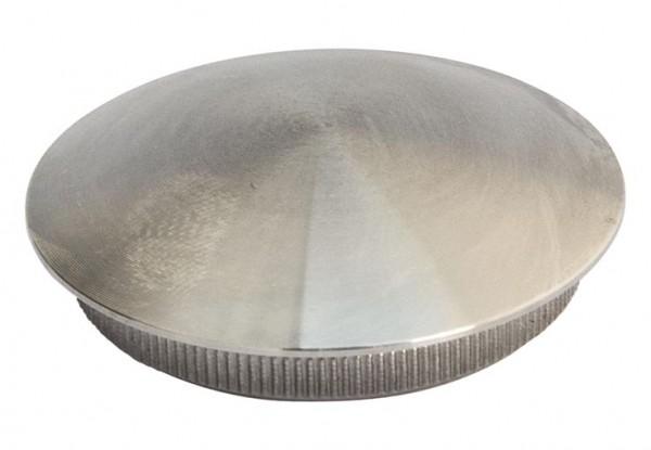 Endkappe V2A, f. Rohr 42,4/3mm, leicht gewölbt,