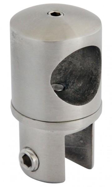 Verbinder von Glas zu Rohr, V2 A,Hochglanz poliert