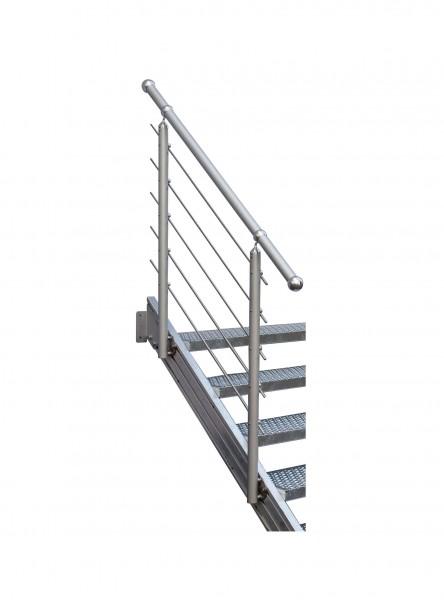 Aluminium-Geländer eloxiert 5 Stg.
