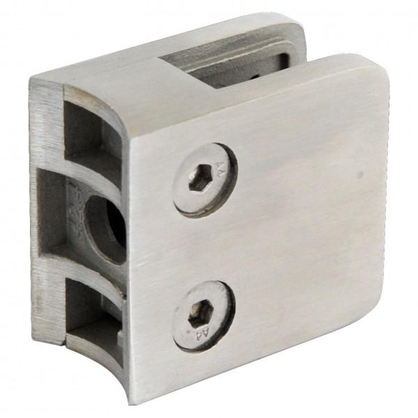 Glashalter V2A,Größe 45/45mm,Viereck,Rohr 42,4mm,