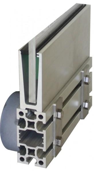 GlasTwin GT6 U-Profile 120x45mm + Profil 120x60mm