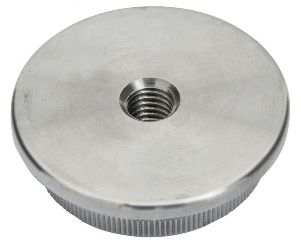 Endkappe,Edelstahl V2A, f.Rohr 48,3/3mm,massiv,M8