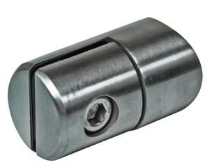 Lochblech-Halter V2A, f. Rohr 33,7mm, geschliffen