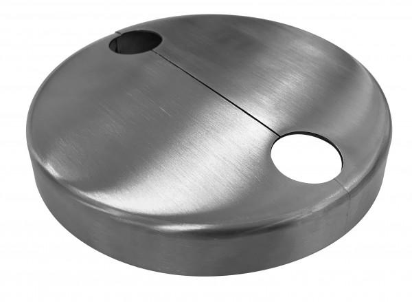 Rosette ø125x18mm, 2-teilig, Edelstahl V2A