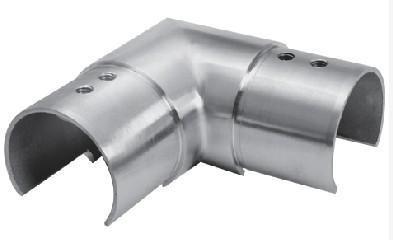 Eck-Verbinder waagrecht V2A f. Nutrohr 48,3x1,5mm