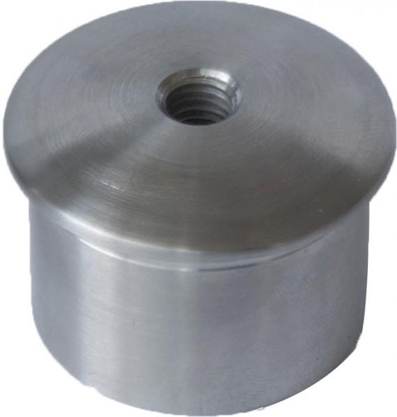 Kappe gewölbt, Edelstahl V2A, Rohr 42,4/2,6mm, M8