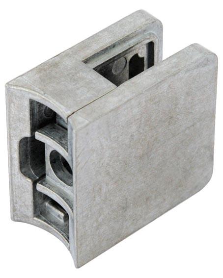 Glashalter,Zink roh,45/45mm, f.Rohr 42,4mm