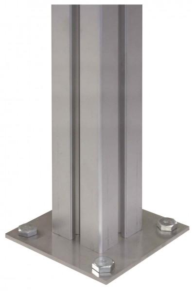Bodenstütze 1000mm für Podest Außentreppe AluFlex