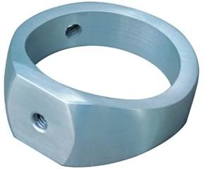 Ring V2A, Aisi 304, f.Rohr 33,7mm, mit Gewinde