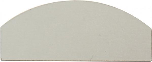 Abschluß Bodenprofil 60mm Aluminium eloxiert