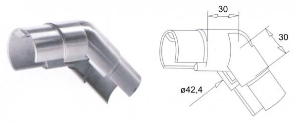 Gelenk-Verbinder 25-55° abwärts V2A