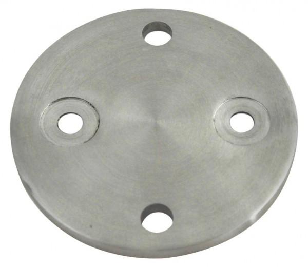 Ankerplatte ø100x6mm 4-Loch Edelstahl V2A