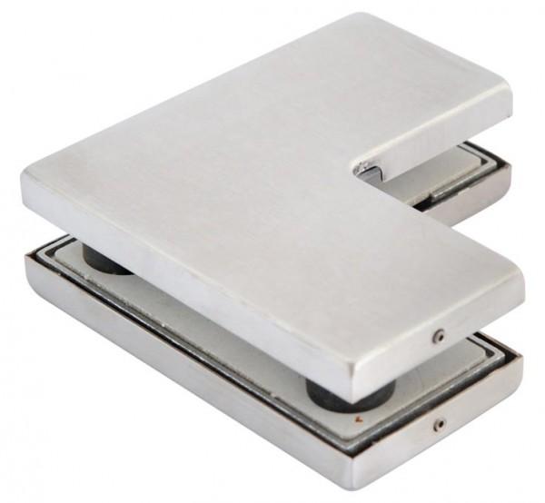 Verbinder Edelstahl V2 A, für zwei Glasplatten,