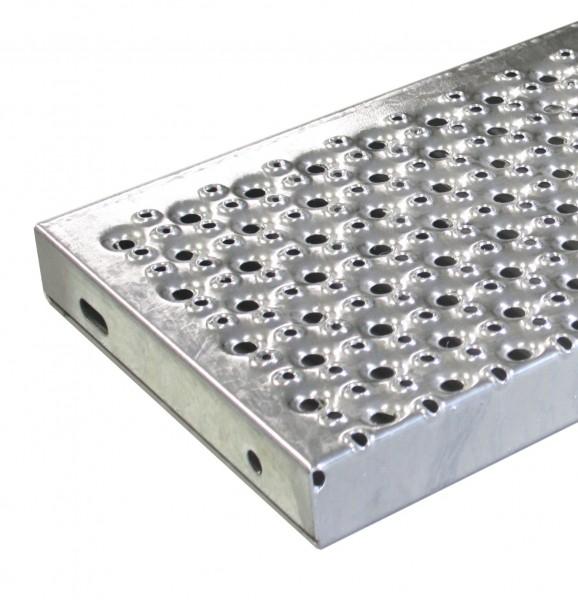Lochblechstufe 800x270mm, Eisen, feuerverzinkt