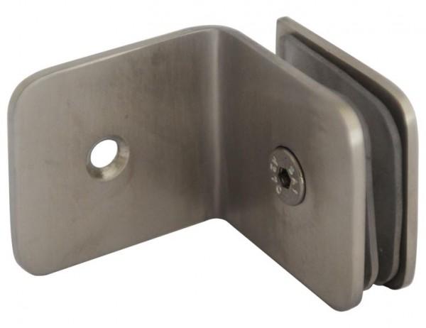 Wandverbinder V2A,90° Winkel, Wand zu Glas,50x45mm