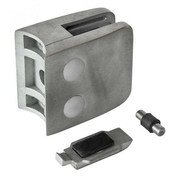 Glashalter V2A,Größe 52/52mm,mit Sicherungsplatte,