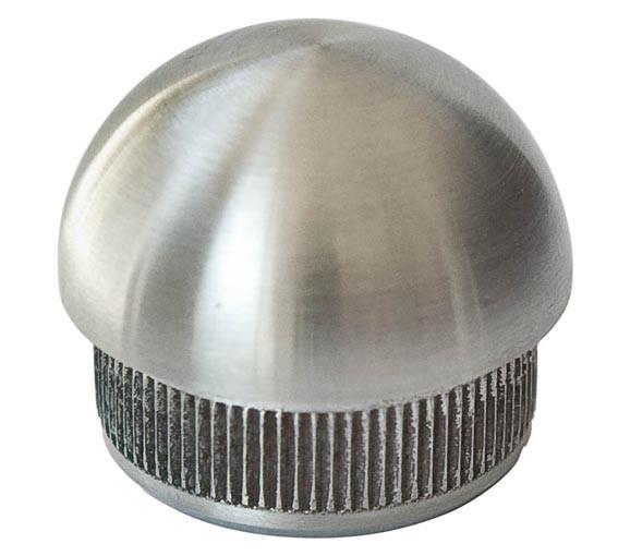 Endkappe halbrund,f.Rohr 42,4/2mm, V2A, massiv