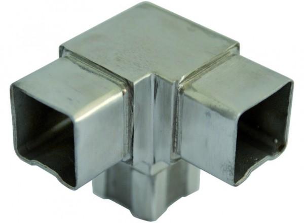 Verbinder, V2 A, für Rohr 40/40/2mm, 3 Abgänge