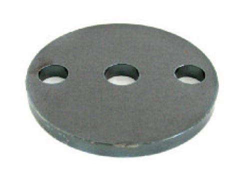 Ankerplatte ø100x8mm, Eisen roh