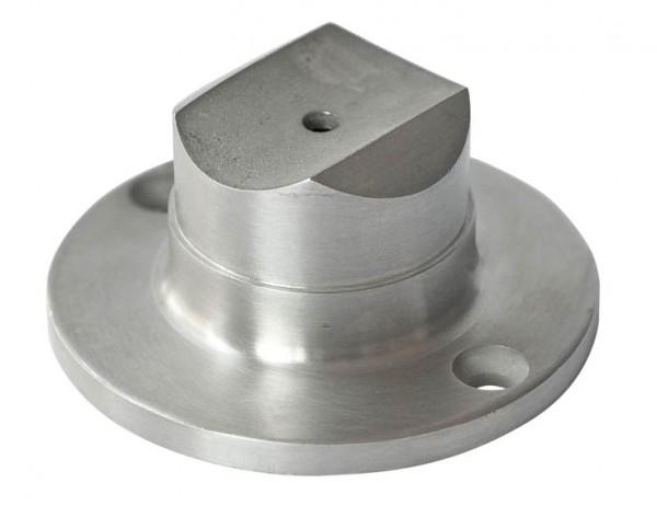 Handlaufstütze mit Anschraubplatte V2A, 42,4/2mm