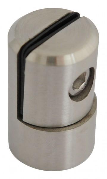 Lochblech-Halter V2A, flacher Ansatz, geschliffen