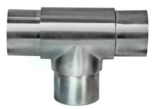 Rohr-Verbinder (T-Stück) V2A, f. Rohr 33,7/2mm