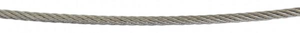 Edelstahl-Seil V2A, 4mm stark, Länge 5 Meter,