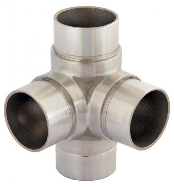 Rohr-Verbinder, V2A, für Rohr 42,4/2mm