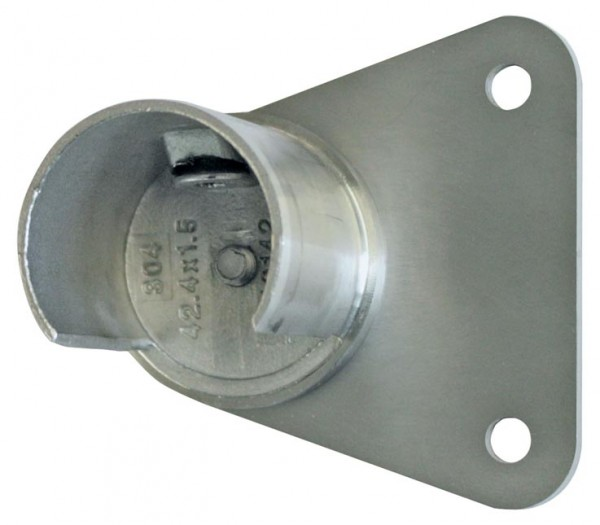 Wandhalter asymetrisch für Nutrohr ø42,4x1,5mm