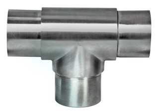 Rohr-Verbinder T-Stück, V2A, für Rohr 42,4mm,